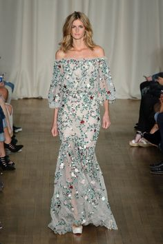 Prepare to Fall in Love With Marchesa's Spring 2015 Bohemian Bouquet: After years of presenting during New York Fashion Week, Marchesa made a return to London this season, rounding out day two with a stunning, ethereal show in which models resembled life-size flower fairies.
