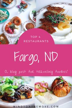 Wondering where to dine in Fargo, North Dakota? I've become somewhat of a Fargo foodie and am happy to share my top four restaurants in Fargo with you all.    #northdakota #usatravel #food #restautants #wheretoeat #besteats #foodie #foodies
