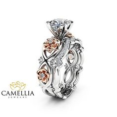 AMORU Rose Flower CZ Stone Wedding Rings for Women Jewelry Crystal Love Engagement Silver Ring Set Dropshipping Bague Femme Gift. Product ID: Engagement Wedding Ring Sets, Engagement Jewelry, Wedding Band, Wedding Jewelry, Rose Wedding, Solitaire Engagement, Flower Engagement Rings, Wedding Set, Solitaire Ring