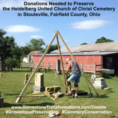 Donations need for conservation and preservation efforts at Heidelberg United Church of Christ Cemetery in Stoutsville, Fairfield County, Ohio. – http://GravestoneTransformations.com/Donate  -   #HeidelbergUCC #Stoutsville #Fairfield #Ohio #GravestoneConservation #CemeteryPreservation  #SaveOurCemeteries #SaveOurAncestors #SaveOurHistory   Hire #GravestoneTransformations for #GravestonePreservation #CemeteryConservation