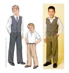 Kwik Sew Pattern Boys Casual /Age 4-14