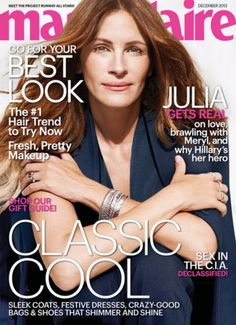 Julia Roberts covers December 2013 issue of Marie Claire