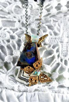 """Collier opale boulder d Australie """" L opale ailée """""""