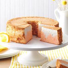 Orange Dream Angel Food Cake Recipe from Taste of Home -- shared by Lauren Osborne of Holtwood, Pennsylvania