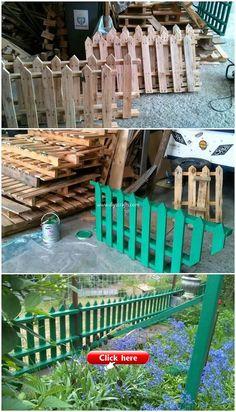 Wood Pallet Fence, Diy Fence, Wooden Pallets, Wooden Boards, Pallet Planters, Wooden Fence, Fence Ideas, Diy Furniture Projects, Diy Pallet Projects