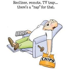 """Recliner, remote, TV tray . . . .there's a 'nap' for that."" - Impression Stamps                                                                                                                                                                                 More"