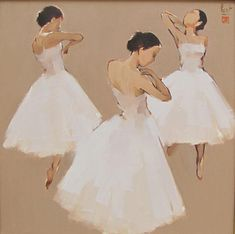 Ballerinas in white... by Nguyen Thanh Binh