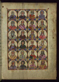 Ancestors of Christ, part 1,T'oros Roslin Gospels, Walters W.539, 1262