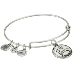 Alex and Ani Pisces II Bracelet ($28) ❤ liked on Polyvore featuring jewelry, bracelets, rafaelian silver finish, fish charms, charm bracelet, silver charms, silver bracelet charms and charm bangle