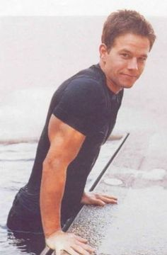 Mark Wahlberg...maybe he just saved a drowning kitten? (lol)
