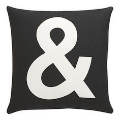 256619091792 Pillows - And Pillow I Crate and Barrel - ampersand pillow