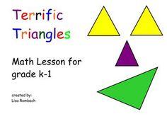 Exploring Triangles K-1 SmartBoard Lesson FREE!! (.notebook file)