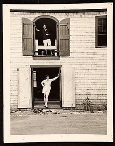 Citation: Helen Frankenthaler and Robert Motherwell at their Provincetown studio, ca. 1960 / unidentified photographer. Bernard J. Reis papers, Archives of American Art, Smithsonian Institution.