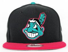 New Era MLB Cleveland Indians Caps Black 4094! Only  7.90USD Cleveland  Indians Hat cc2152c618a9