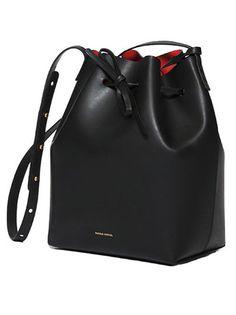 Mansur Gavriel Bucket Bag - Black/Flamma