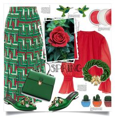 """Untitled #492"" by ljubacelo ❤ liked on Polyvore featuring Gucci, Beaufille, Clinique and Belk Silverworks"