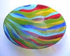 Fused glass bowl. Joyfulimages.com