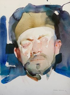 Available for sale from Abend Gallery, Benjamin Björklund, Portrait of Nicolas Uribe Archival ink on cotton rag watercolor paper, 12 × 9 in Figure Painting, Painting & Drawing, Figure Drawing, Abstract Paintings, Abstract Art, Watercolor Portraits, Watercolor Paintings, Watercolor Trees, Portrait Paintings