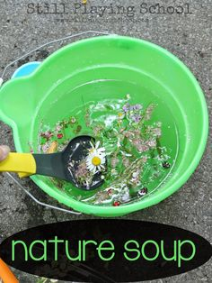 Nature Soup - A #sensory invitation for #kids from Still Playing School
