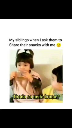 Sister Quotes Funny, Funny Baby Memes, Funny Fun Facts, Cute Funny Quotes, Latest Funny Jokes, Crazy Funny Videos, Some Funny Jokes, Funny Videos For Kids, Siblings Funny