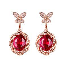 4ct Ruby #Earrings, Gorg