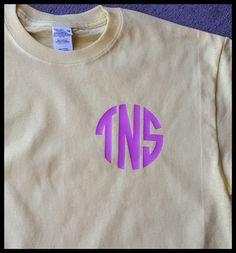 Circle Monogram T-Shirt by Createdinthasouth on Etsy