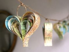This is a cute idea for a Valentine's Banner... Hang from your fireplace mantle for a simple look..