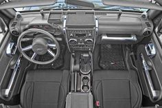All Things Jeep - Chrome Interior Trim Accent Kit by Rugged Ridge for Jeep Wrangler JK Unlimited with Automatic  Windows and Automatic Transmission(2007-2010) $255.18