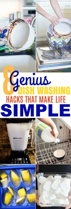 These 8 Genius Dishwashing Hacks Are AMAZING! I can't believe I hadn't thought of these before!
