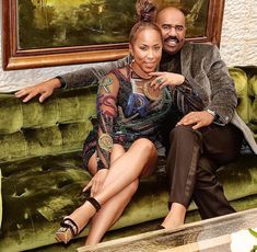 Steve Harvey and his beautiful wife Marjorie Harvey celebrate 10 years of marital bliss this weekend. Steve Harvey Wife, Marjorie Harvey, The Lady Loves Couture, Love Couture, Black Celebrity Couples, Celebrity Style, Daily Fashion, Fashion News, Beautiful Wife