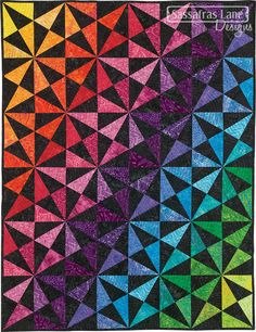Prism Parkway Quilt Pattern – Sassafras Lane Designs - really like this pattern, paper piecing makes the points nice and crisp, like the pointed edge. Paper Piecing Patterns, Pattern Paper, Quilt Patterns, Design Textile, Design Floral, Scandinavian Pattern, Boho Pattern, Triangle Quilt Pattern, Triangle Quilts