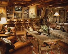 Built And Designed To Feel Like An Old Western Lodge Movie Theater Gym  Western Barwestern Stylecafe Interiorfamily Roomsski. Western Interior  Design Ideas ...