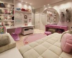 This is more of a modern room than glam but it has some hints of glam in there.