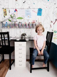 детский стол для творчества | Письменный стол для двоих детей
