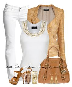 """Keyanna"" by stay-at-home-mom ❤ liked on Polyvore featuring Citizens of Humanity, Jaeger, Philipp Plein, JustFabulous, MICHAEL Michael Kors and Coach"