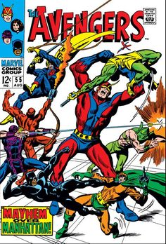 The Avengers #55 John Buscema Cover