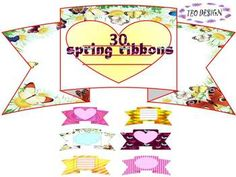 Spring Ribbons- Clip Ar; Personal or Commercial Use
