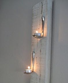 Decoracion con velas y cucharas