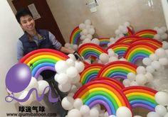 -  - #balloonndecoration My Little Pony Birthday Party, Trolls Birthday Party, Rainbow Birthday Party, Unicorn Birthday Parties, Unicorn Party, Birthday Party Decorations, Deco Ballon, Rainbow Parties, Rainbow Balloons