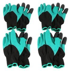 Official Website 1 Pair Planting Working Gardening Labor Printed Anti Stab Cold-proof Accessories Thicken Gloves Security Long Sleeve Tools Garden Tools Garden Gloves