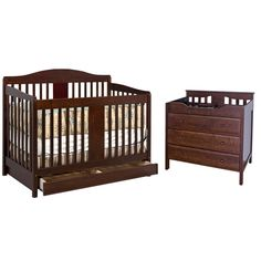 DaVinci 2 Piece Nursery Set - Richmond 4 in 1 Convertible Crib with Toddler Rail and 3 Drawer Changer in Espresso FREE SHIPPING