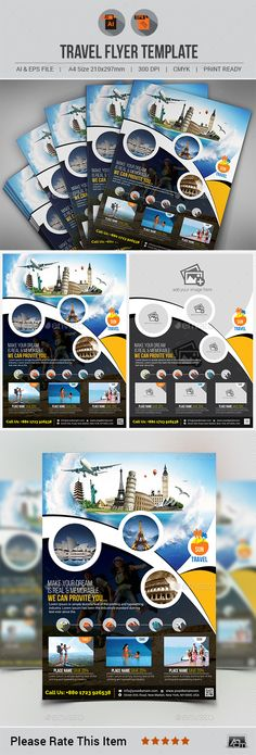 Travel Flyer Template PSD #design Download: http://graphicriver.net/item/travel-flyer-template-v5/13587579?ref=ksioks