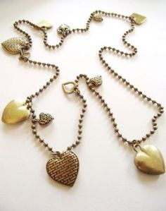 Gold Lariat Heart Necklace. Can be worn in lots of different ways.