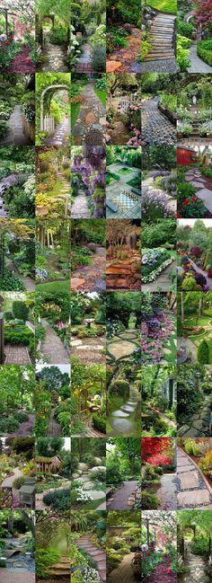 54 Spectacular Garden Paths Style Estate - My Gardening Path Landscape Design, Garden Design, Path Design, Design Ideas, The Secret Garden, Garden Spaces, Dream Garden, Garden Path, Shade Garden
