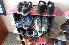 Patinetas para almacenar zapatos