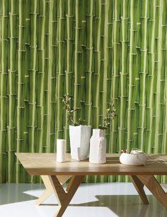 papier peint asiatique personnalisable paysage avec les bambous aspect ancien papier peint. Black Bedroom Furniture Sets. Home Design Ideas