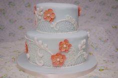 Vintage Wedding Cake by emmmylizzzy, via Flickr