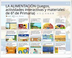"""""""16 Juegos, actividades interactivas y materiales sobre LA ALIMENTACIÓN en 6º de Primaria"""" Science Area, Interactive Activities, Blue Prints, Teaching Resources"""