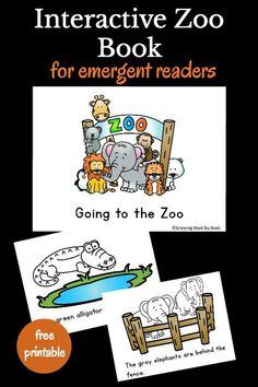 All about the zoo printable book is perfect for emergent readers. It's an interactive book that has kids coloring or counting on each page as well as reading. Best of all it's a free printable book! Preschool Zoo Theme, Preschool Books, Free Preschool, Preschool Activities, Preschool Classroom, Therapy Activities, Kindergarten Smorgasboard, Kindergarten Reading, Reading Activities