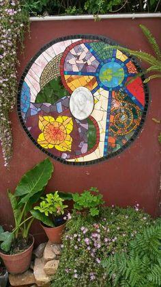 Mosaico sobre pared